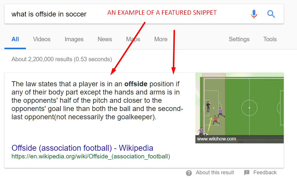 An Example of a Featured Snippet on Google